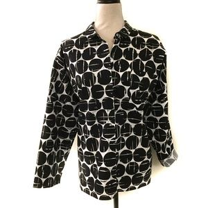 Investments Blouses Size L Black/White